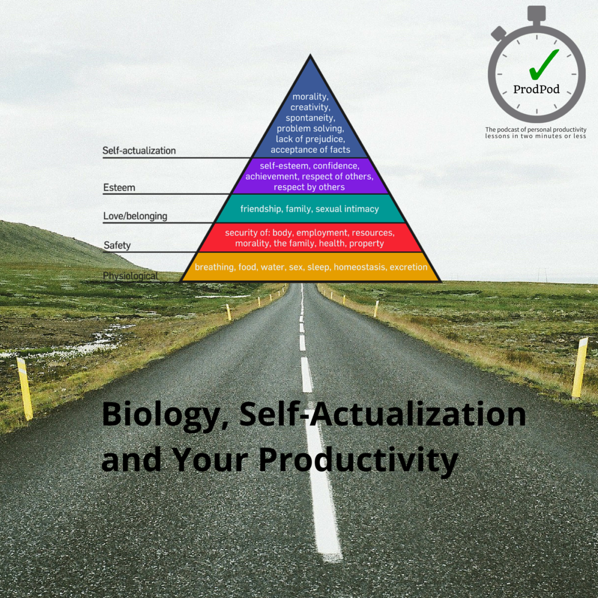 ProdPod - Episode 90 - Biology, Self-Actualization and Your Productivity